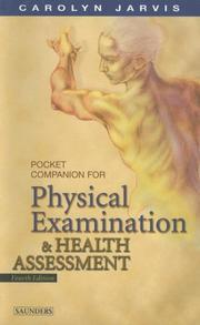 Cover of: Pocket companion for Physical examination and health assessment
