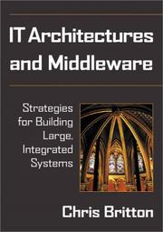 Cover of: IT architectures and middleware