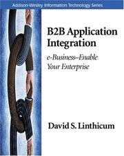 Cover of: B2B Application Integration | David S. Linthicum