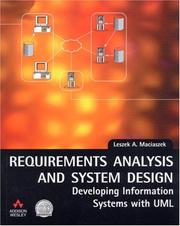 Cover of: Requirements Analysis and System Design