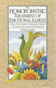 Cover of: homeopathic treatment of emotional illness | Trevor Smith