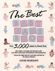 Cover of: Best Baby Name Book | Louise Nicholson