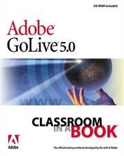 Cover of: Adobe(R) GoLive(R) 5.0 Classroom in a Book | Adobe Systems Inc.