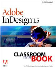 Cover of: Adobe InDesign 1.5 Classroom in a Book | Adobe Systems Inc.