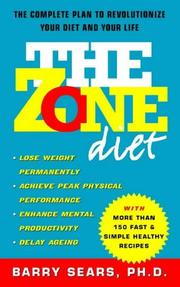 Cover of: The Zone Diet