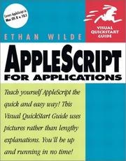 Cover of: AppleScript for applications