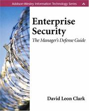 Cover of: Enterprise Security