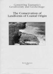 Cover of: The conservation of landforms of coastal origin