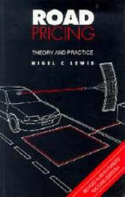 Cover of: Road pricing | Nigel C. Lewis