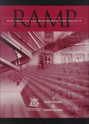 Cover of: Risk Analysis and Management for Projects | Institution Of Civil Engineers