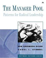 Cover of: The Manager Pool | Don Sherwood Olson, Carol L. Stimmel