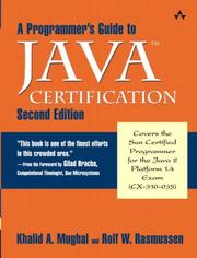 Cover of: A programmer's guide to Java certification