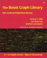 Cover of: The boost graph library |