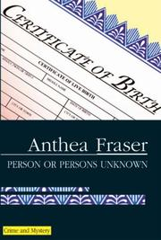 Cover of: Person or Persons Unknown