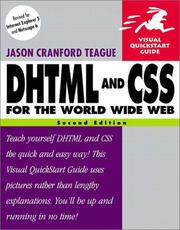 Cover of: DHTML and CSS for the World Wide Web