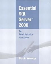 Cover of: Essential SQL Server(TM) 2000