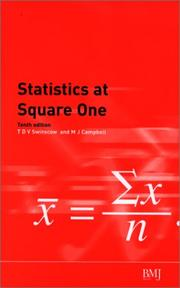 Cover of: STATISTICS AT SQUARE ONE | T.D.V SWINSCOW