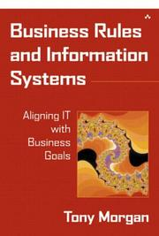 Cover of: Business Rules and Information Systems