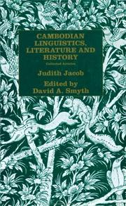 Cover of: Cambodian Linguistics, Literature and History | Judith J Jacobs
