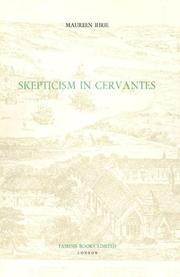 Cover of: Skepticism in Cervantes