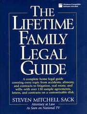 Cover of: The Lifetime family legal guide
