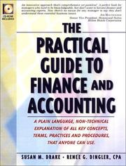 Practical Guide To Finance And Accounting by Susan M. Drake, Renee G. Dingler