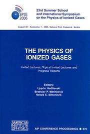 Cover of: The Physics of Ionized Gases |