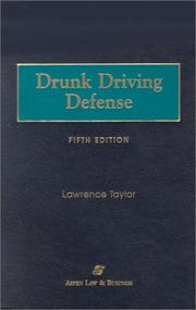 Cover of: Drunk driving defense