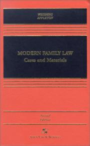 Cover of: Modern family law: cases and materials