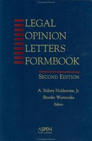 Cover of: Legal opinion letters formbook