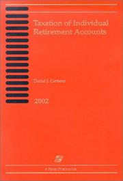 Cover of: Taxation of individual retirement accounts | David J Cartano