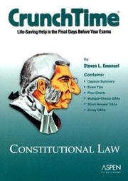 Cover of: Constitutional law | Steven Emanuel