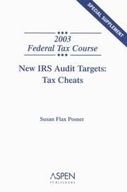 Cover of: New IRS audit targets | Susan Flax Posner