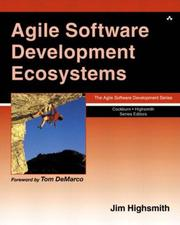 Cover of: Agile Software Development Ecosystems