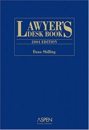 Cover of: Lawyer's Desk Book 2004 Edition (Lawyer's Desk Book)