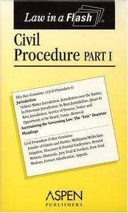 Cover of: Civil Procedure (Law in a Flash)
