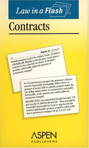 Cover of: Contracts (Law in a Flash)
