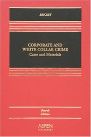 Cover of: Corporate and white collar crime