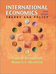 Cover of: International economics: theory and policy