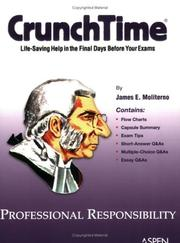 Cover of: CrunchTime: Professional Responsibility