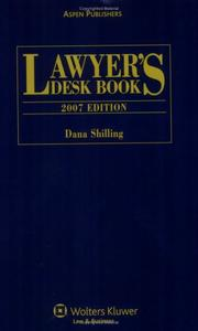 Cover of: Lawyer's Desk Book, 2007 Edition (Lawyer's Desk Book) (Lawyer's Desk Book)