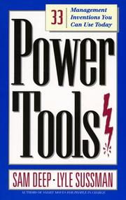 Cover of: Power tools | Samuel D. Deep