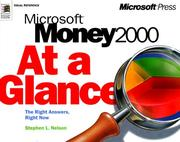 Cover of: Microsoft Money 2000 at a Glance (At a Glance (Microsoft)) | Stephen L. Nelson