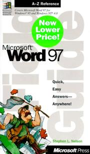 Cover of: Microsoft(r) Word 97 Field Guide