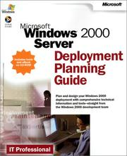 Microsoft Windows 2000 Server Deployment Planning Guide by Microsoft Corporation., Microsoft Corporation.