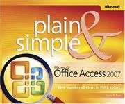 Cover of: Microsoft  Office Access(TM) 2007 Plain & Simple (Plain & Simple Series) | Curtis Frye