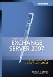 Cover of: Microsoft  Exchange Server 2007 Administrator's Pocket Consultant (Pro Administrator's Pocket Consultant)