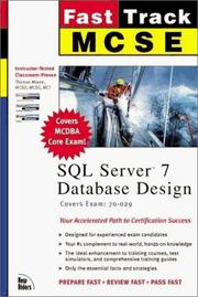 Cover of: Fast track MCSE SQL Server 7 database design | Moore, Thomas