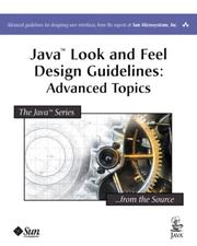 Cover of: Java(TM) Look and Feel Design Guidelines