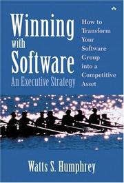 Cover of: Winning with Software: An Executive Strategy
